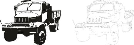 vector military truck praga pv3s