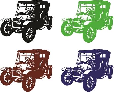 old car: illustration of an old car.