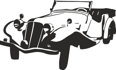 Vector Illustration Of An Old Car
