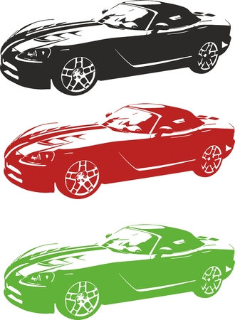 Vector illustration of an car