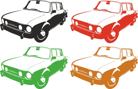 Vector illustration of an old car. 向量圖像