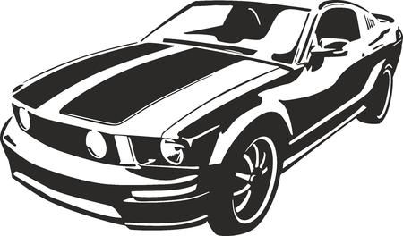 De deportes negro del vector del coche ilustration Foto de archivo - 41834088