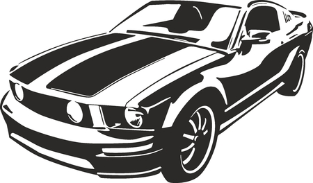 Black sports car vector ilustration