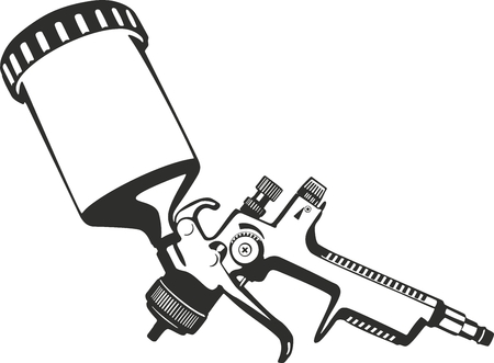 airbrush: Paint Spray gun vector illustration