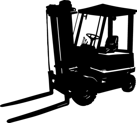 Vector illustration of an forklift icon 向量圖像