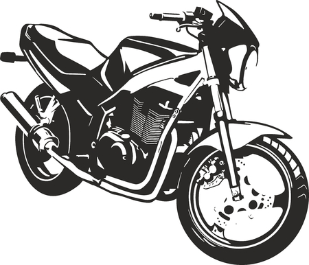 Black sports bike vector ilustration