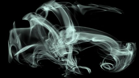 Abstract smoke on white background. deamon, supay