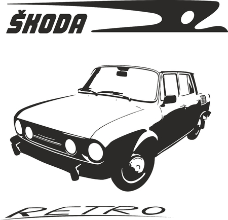 Vector illustration of an old logo skoda 向量圖像