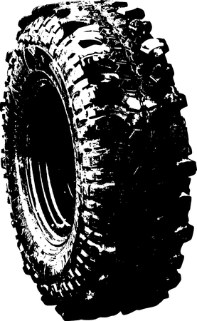 vector tyre: vector ilustration of an black tyre symbol