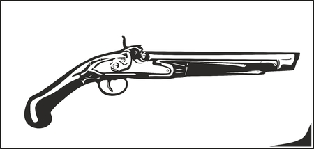 flintlock: Vector illustration gun it issuitable for cutter plotter