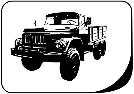 military truck veteran Ilustrace