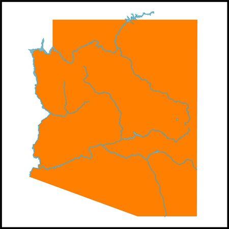 hoover: Arizona Map Illustration Illustration