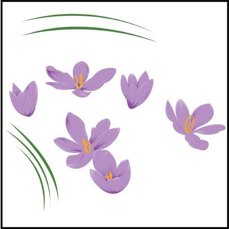 Purple Flower pack Иллюстрация