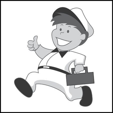 Service Technician Illustration