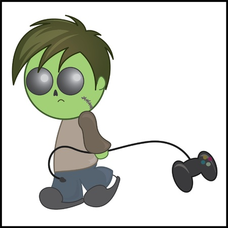 gamer: Zombie Gamer Cartoon