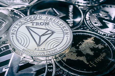 coin cryptocurrency tron against the main alitcoins the Ethereum, dash, monero, litecoin