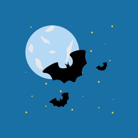 flying bats: Flying bats Illustration
