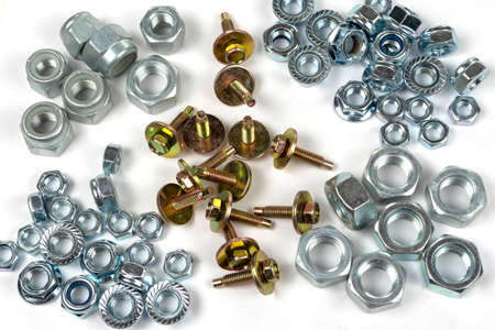 background of their set of various fasteners and items distributed by groups