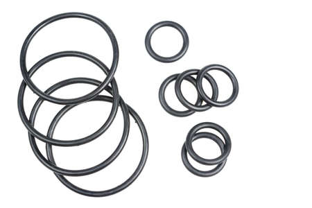 rubber gaskets in the form of a ring on a white background
