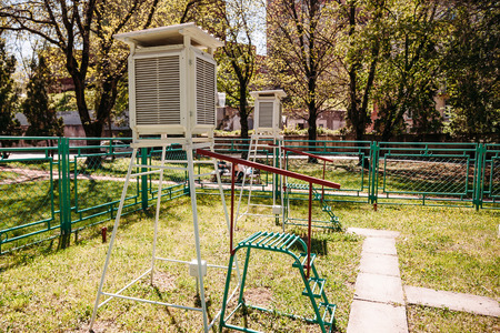 meteorological station outdoors