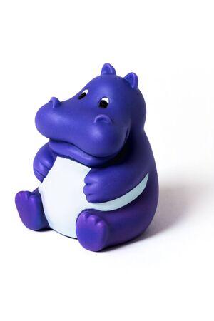 hippo: rubber hippopotamus
