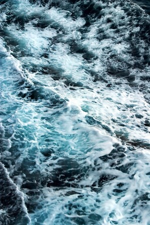 waves and foam in Adriatic sea (blue bckgrnd) photo