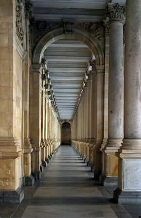 colonnade: colonnade in Prague, Czech rep.