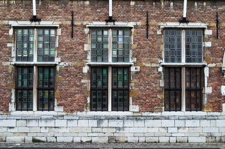 three windows of the old factory (Germany) Stock Photo - 4326350