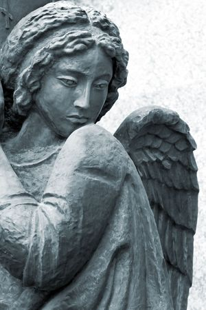 escultura romana: escultura de �ngel en San Petersburgo, Rusia Foto de archivo