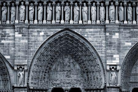 Notre Dame (detail), Paris, France