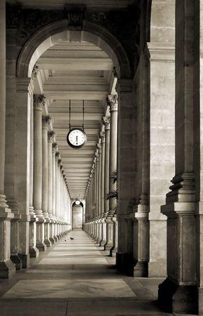 colonnade in Prague, Czech rep.