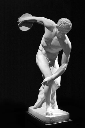 naked statue: sculpture of discobolus