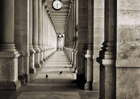 colonnade in Prague