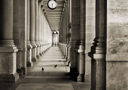 colonnade in Prague photo