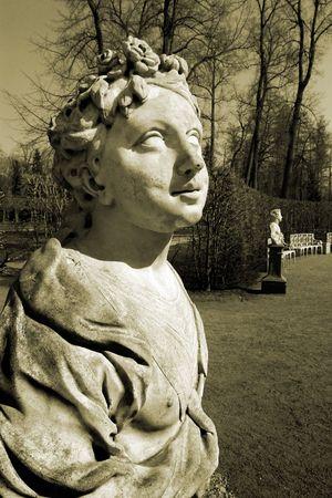 antique sculpture in the Ekaterina's park Stock Photo - 4378180