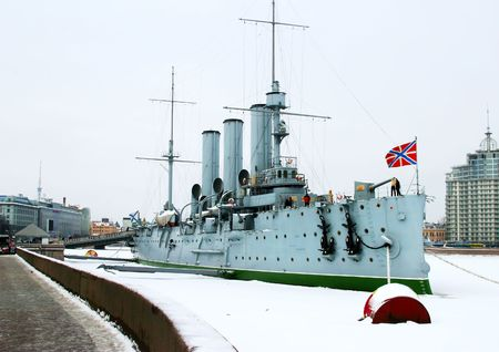 Cruiser Aurora in St. Petersburg