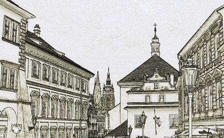 street in historical center of Prague