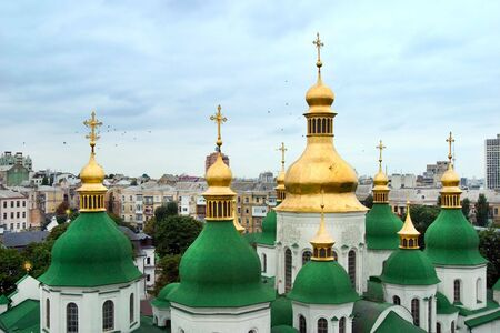 Sofias cathedral in Kiev - view from belfry Stock Photo
