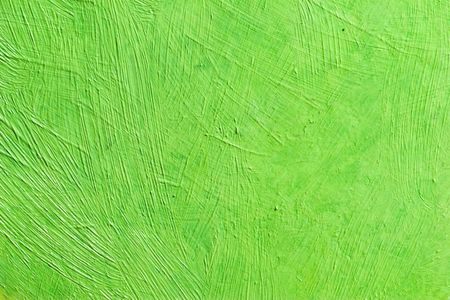 daubs: painted canvas (green color on rough surface)