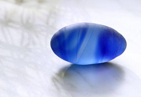 blue marble egg photo