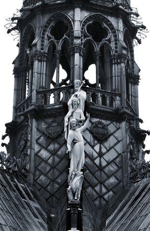 Notre Dame (detail), Paris photo