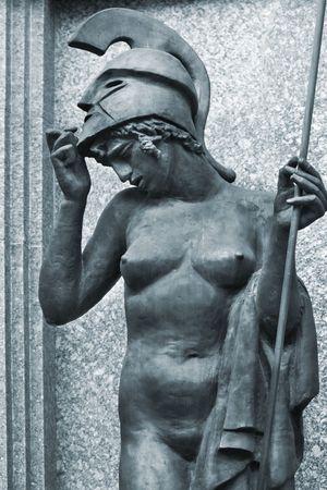 sculpture of goddess Athena