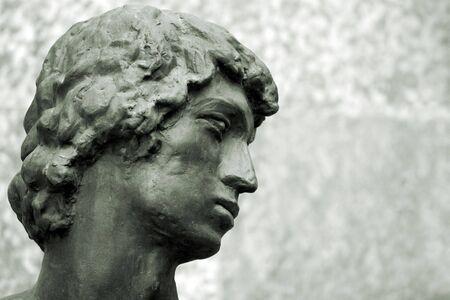 head of antique sculpture photo