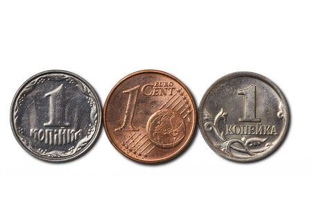 cheapest: 3 cheapest coins (ukrainian, euro cent, russian)