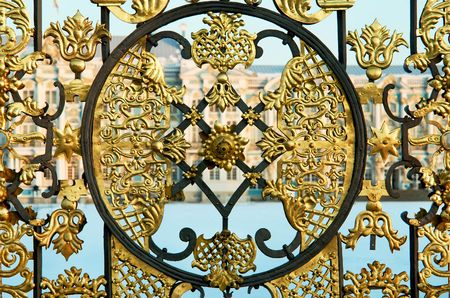 decorative fence in Ekaterinas Palace (St. Petersburg, Russia) photo