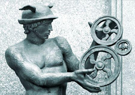 antique sculpture of Mercury photo