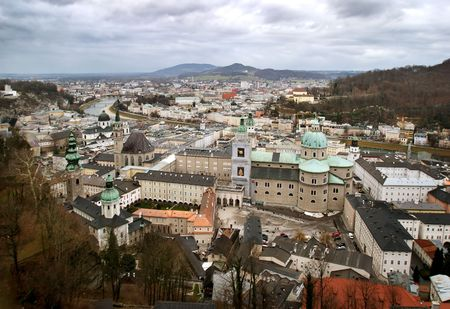 view of historical center of Salzburg photo