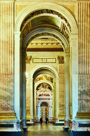 colonnade in cathedral Editorial