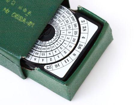 meter box: retro exposure meter in box