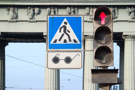 crossing for blind people photo